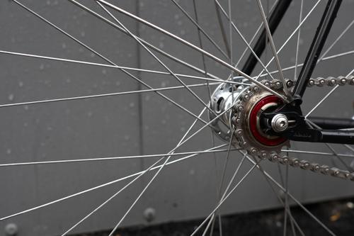 The White Industries freewheel is a nice touch but when compared to the rest of the bike's detailing, is quite loud.