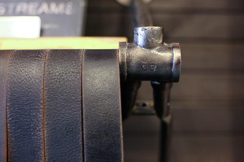 Bottom bracket-inspired shelving
