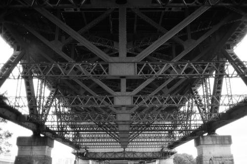 Underneath the harbor bridge