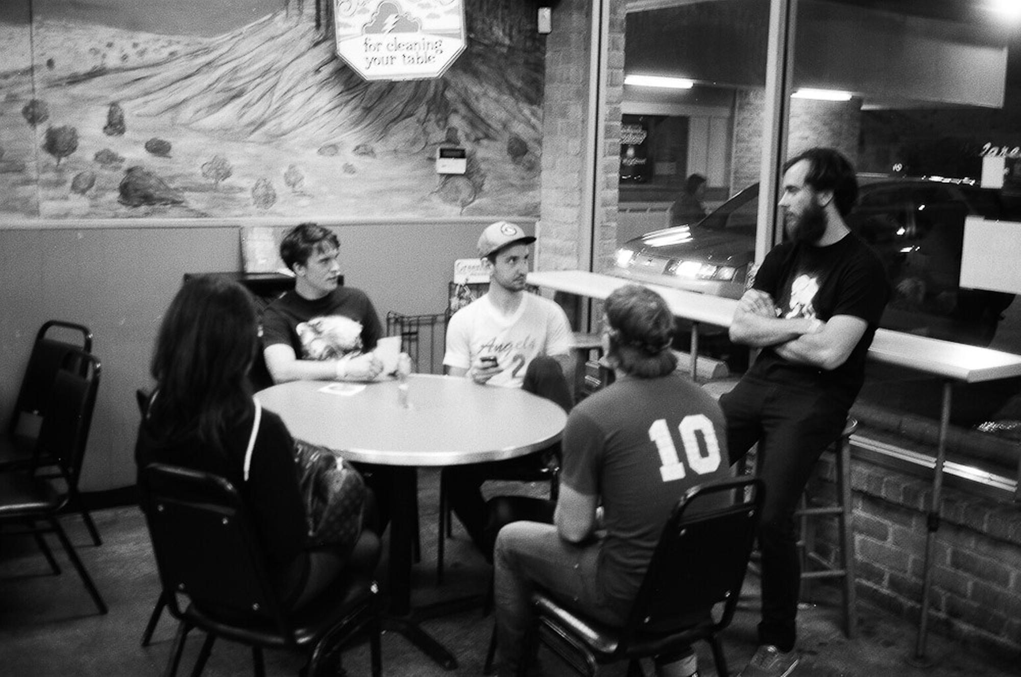 The crew at Thundercloud subs, prior to the show...
