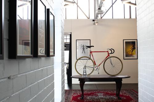 But when they're open, you enter a curated center for cycling inspiration.