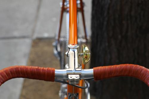 A custom stem and shellac-covered bar tape.