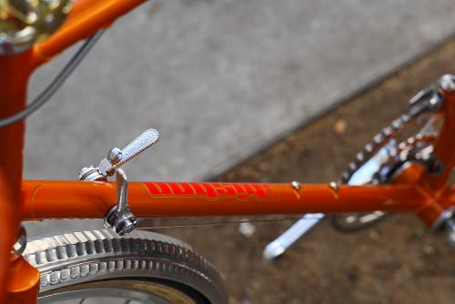 The Portacatena switch, mounted to the downtube shifters.