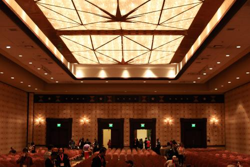 The hall where I had to moderate the panel. It had a 1000 capacity and was 1/3 full.