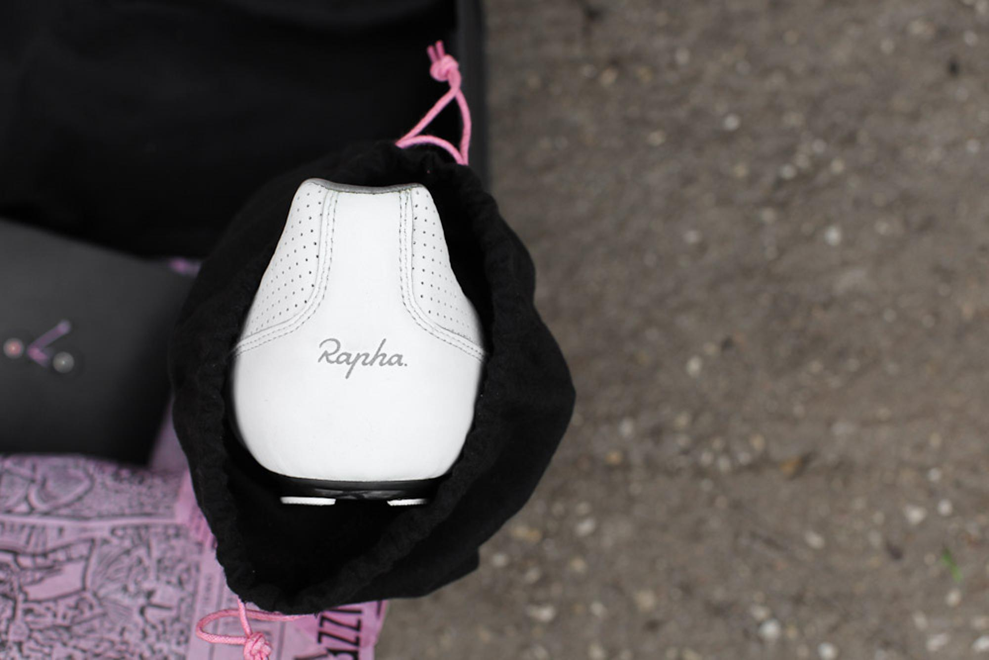 The Rapha logo is printed in 3M reflective paint.