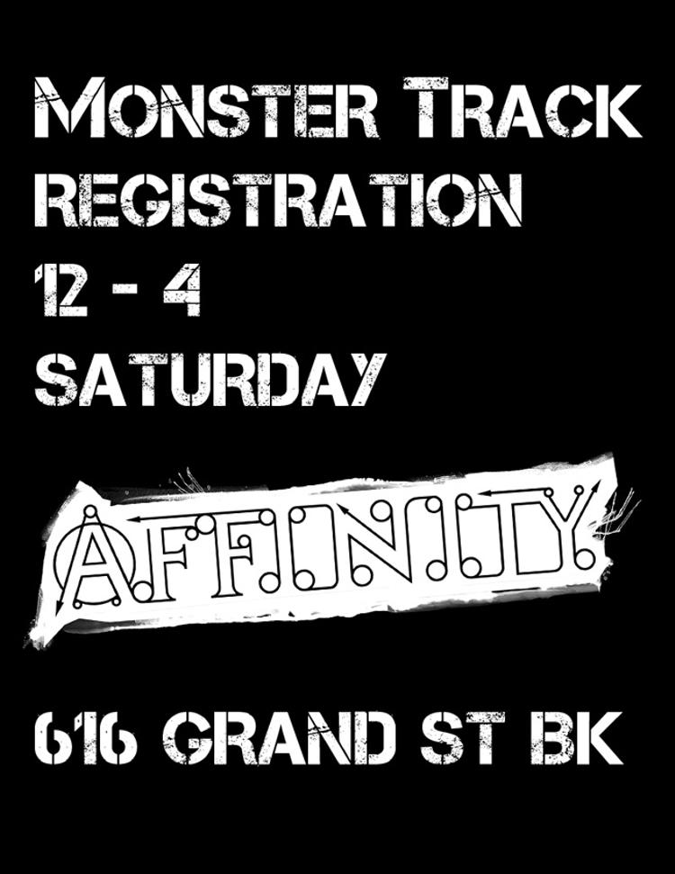 Monster Track Registration at Affinity Cycles