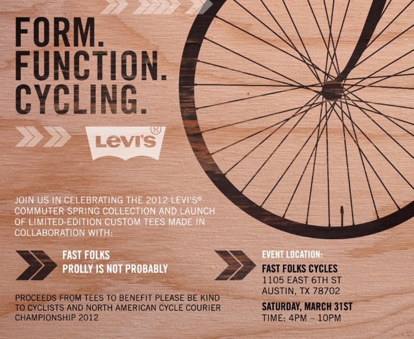 Levi's 2012 Commuter Series Austin Launch Tonight!