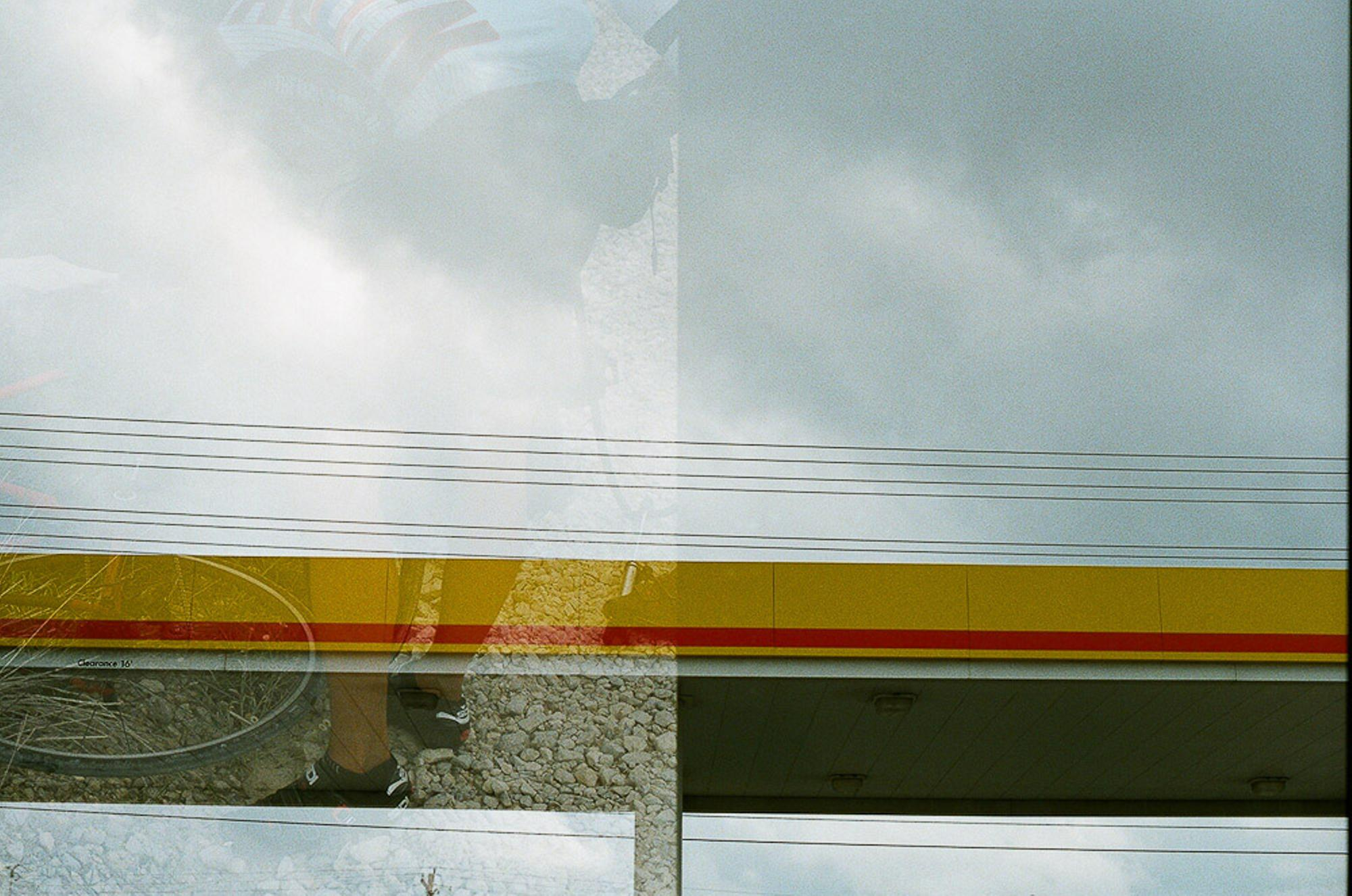 Shell station double exposure