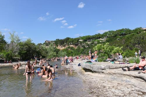 The entire Greenbelt was like this today. Insanity! Who needs a beach?