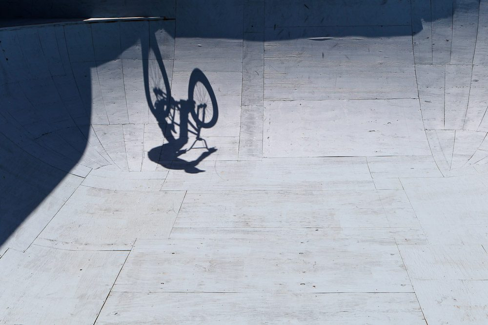 The sun was blazing all afternoon, but it made for some great shadows on the bowl's surface.