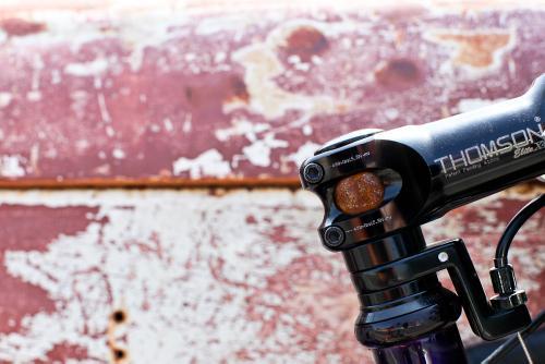 Steel steerer patina