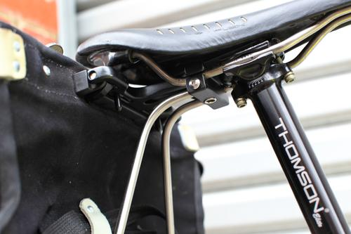 It's as secure as your seat post clamp.