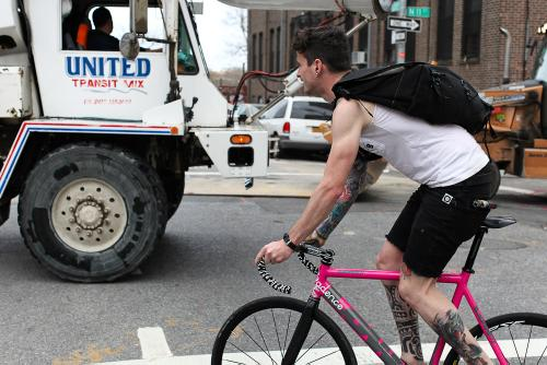 Avoiding the dangers of city riding.
