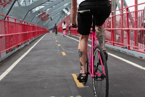 The boy on the pink fixie knew within....