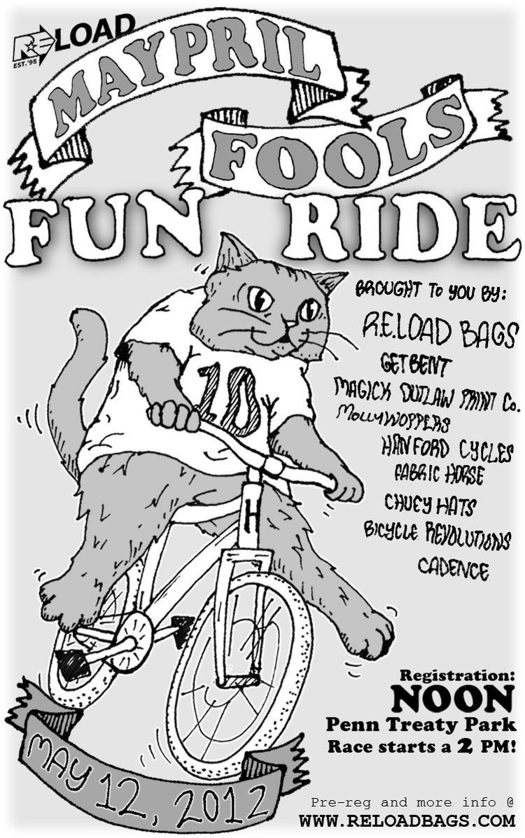REload Bags: Maypril Fools Fun Ride