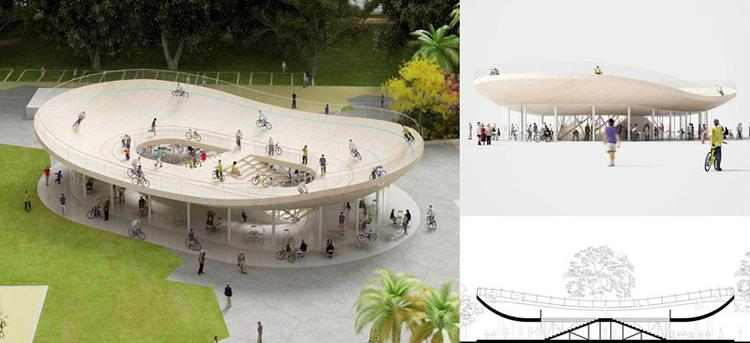 NL Architects Design a Cycling Pavilion in China