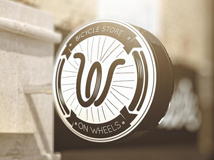 On Wheels Bicycle Store Branding