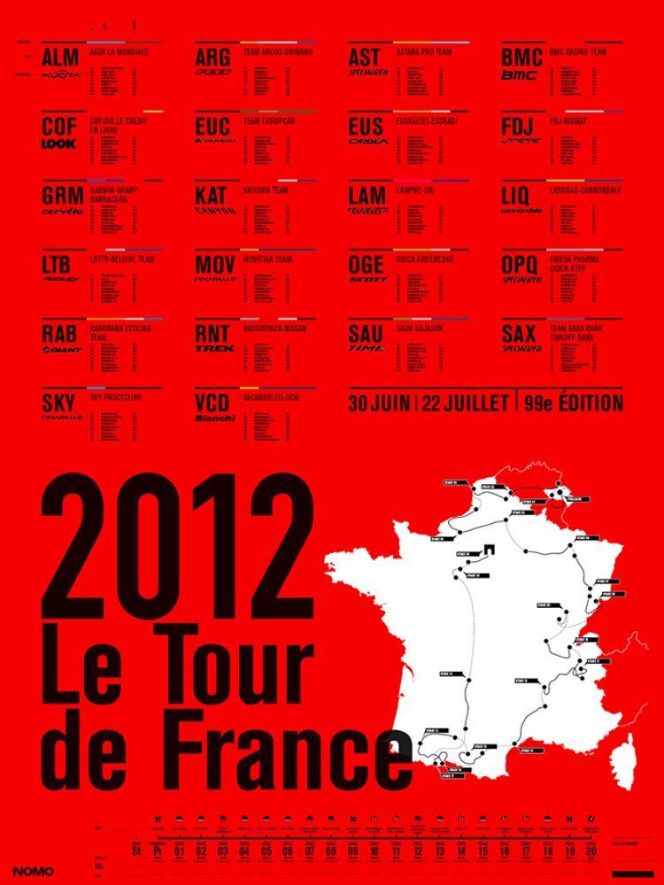 Jerome Daksiewicz: 2012 Tour de France Infographic