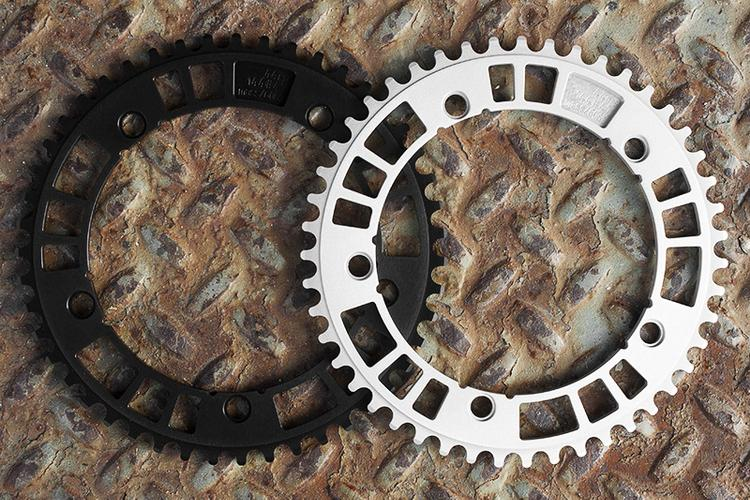 Purple Projects: Silver and Black 44RN 144#47 Track Chainrings in Stock
