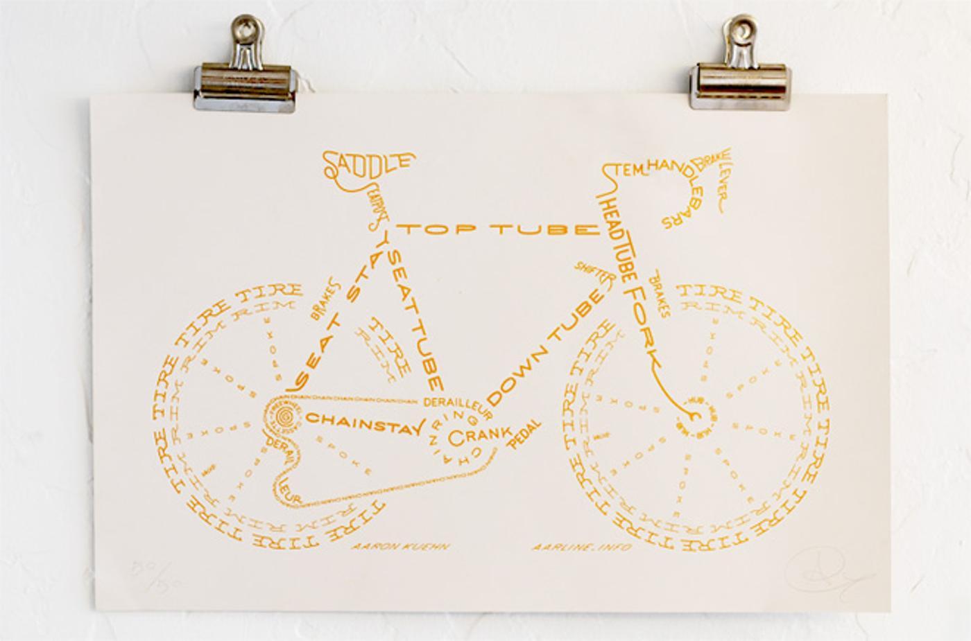 GSC Edition Bicycle Typogram by Aaron Kuehn