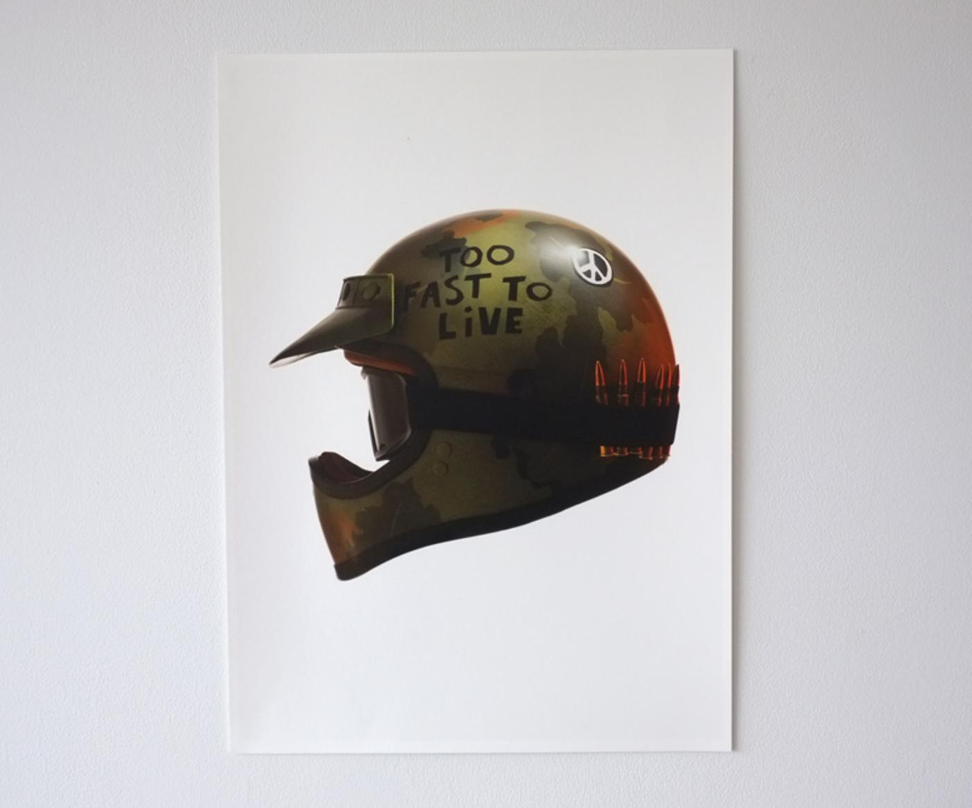 Death Spray Custom: Too Fast to Live Charity Prints