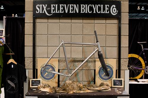 Six Eleven's booth, bikes and presentation was incredible.