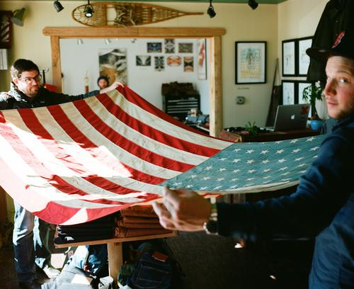 Eli from Berkeley Supply had this 48 star flag gifted to him...