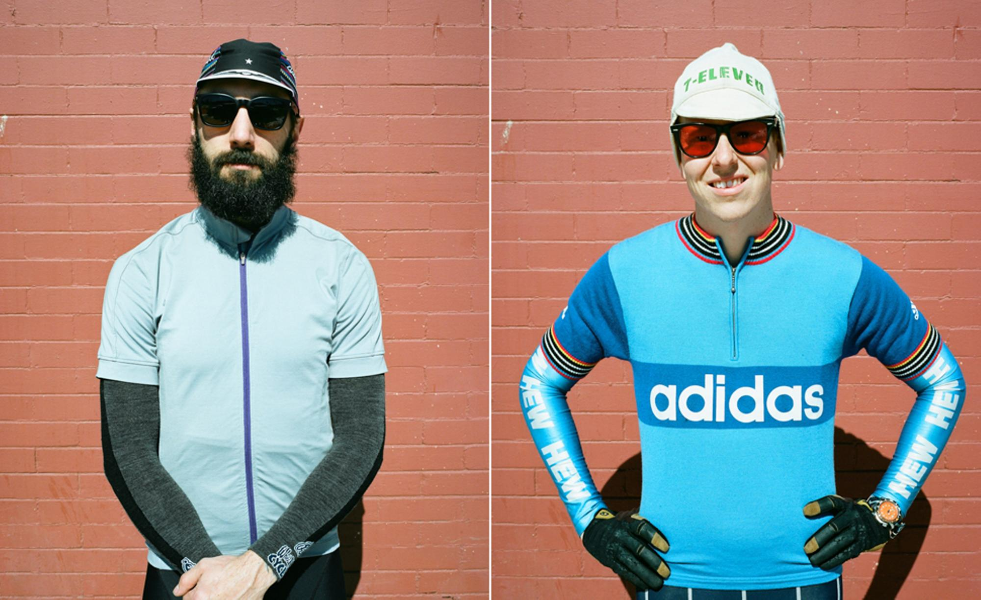 Steve (left) in the Cedar Cycling x PiNP jersey ( @Stedgehammer ) and Kerry in some NOS radness!
