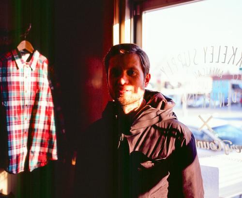 Jeremy Dunn, of Rapha N America and the Athletic in Berkeley Supply as the sun was setting.