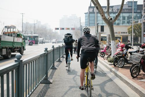 We headed out into the morning sun and the pollution (see the haze?).