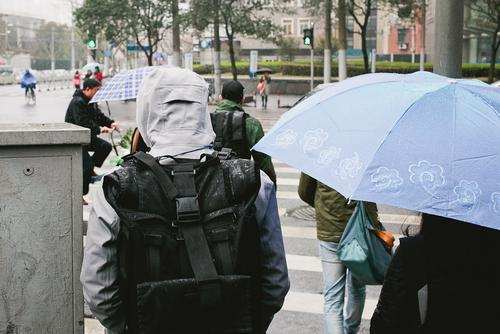 Into the rain we went, here's where the merit of tech fabrics shine.