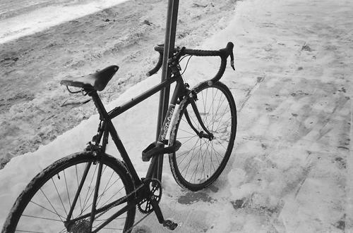 Show bikes locked up.