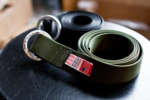 Web Belt with CNC-milled buckle.