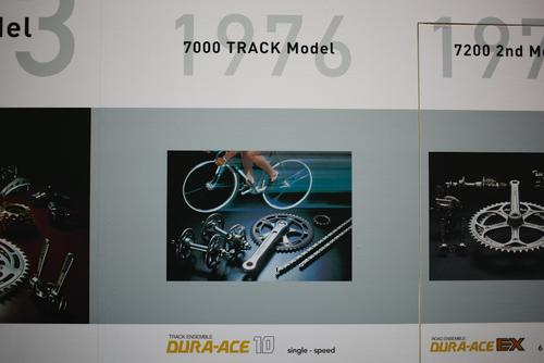 This timeline on the Dura Ace booth was the coolest thing I saw.