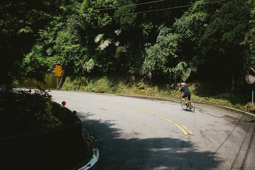 The only chance we got to catch our breath was on the quick descents.