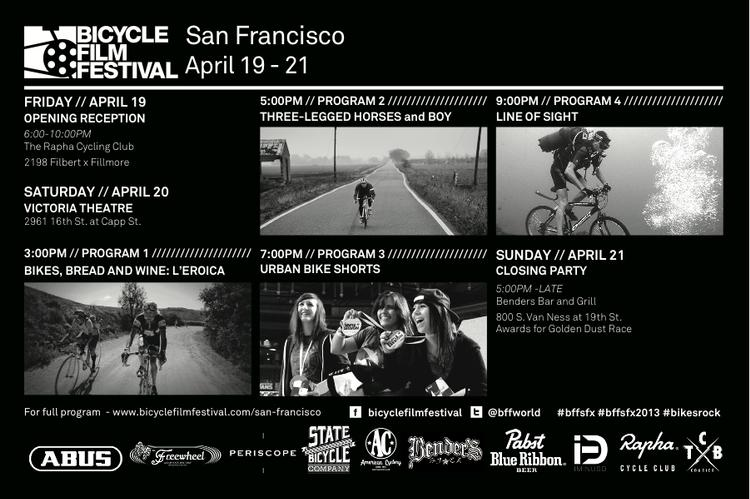 The 2013 Bicycle Film Festival SF is Coming!