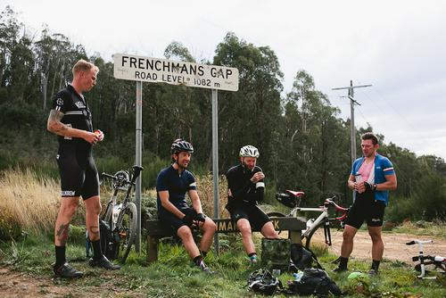 We stopped for a bite and a bit of shit talking. Dave, on the right owns this road's KOM.