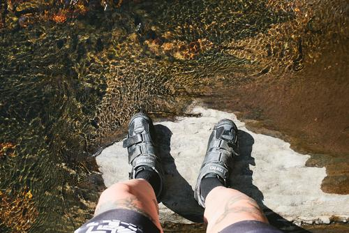 I stepped in the water, looked around, looked down and my feet had almost dried.