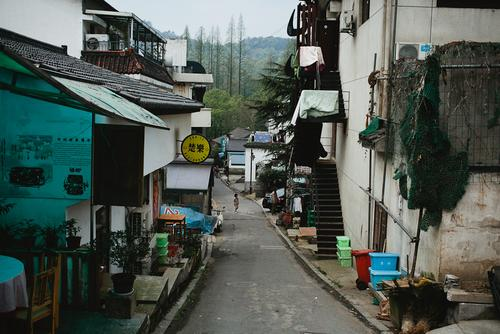 Our hostel is at the top of a little hill, down the road from Hangzhou's lake.
