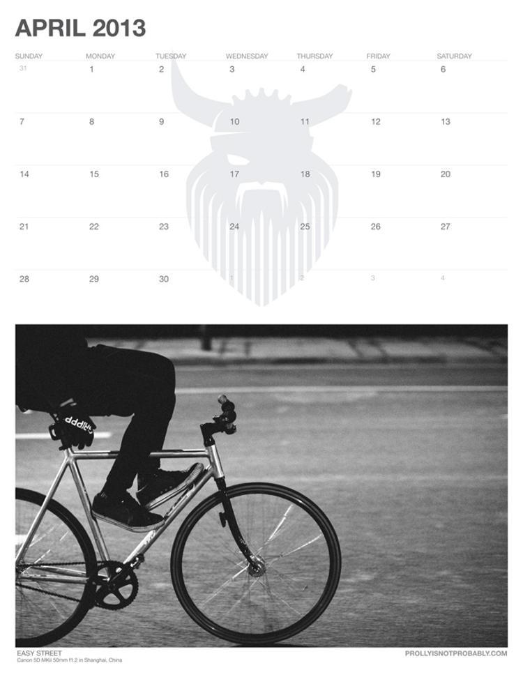 The 2013 PiNP Calendar: April