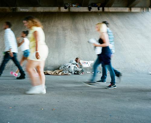 As I said, the homeless try to cope (look up under the bridge)...