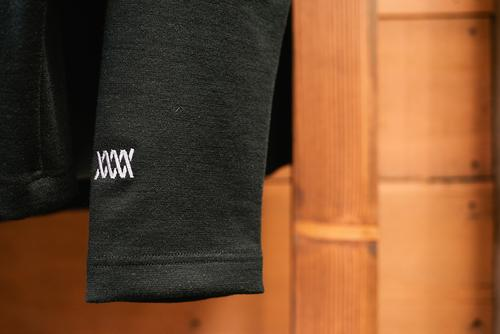 Details on the Bosun merino jacket.