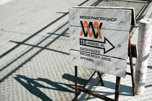 Mission Workshop Signage