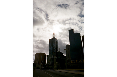 Melbourne is moody.
