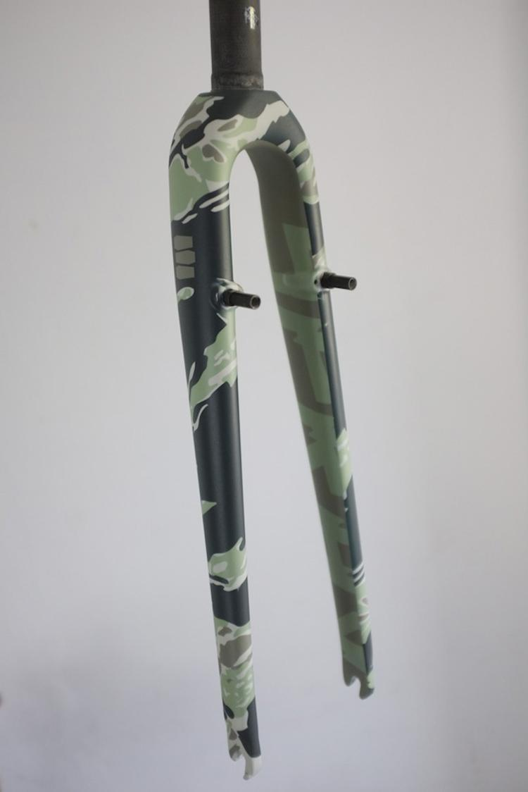Death Spray Custom Fork You Golden Saddle Cyclery Edition