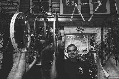 Sammy, head mechanic at Affinity Cycles. This dude is solid.