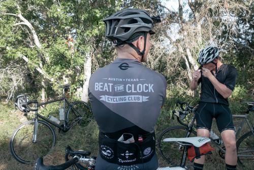 Beat the Clock Cycling Club's kit.