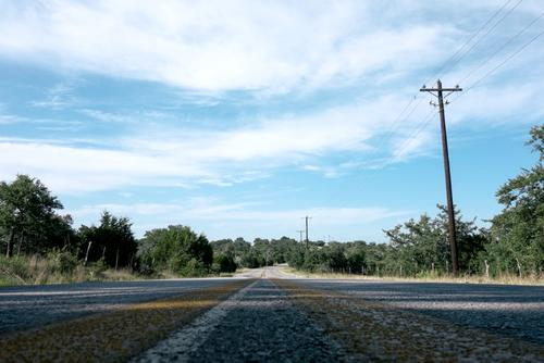 Crumley Ranch Rd on a typical Texas summer day. HOT.