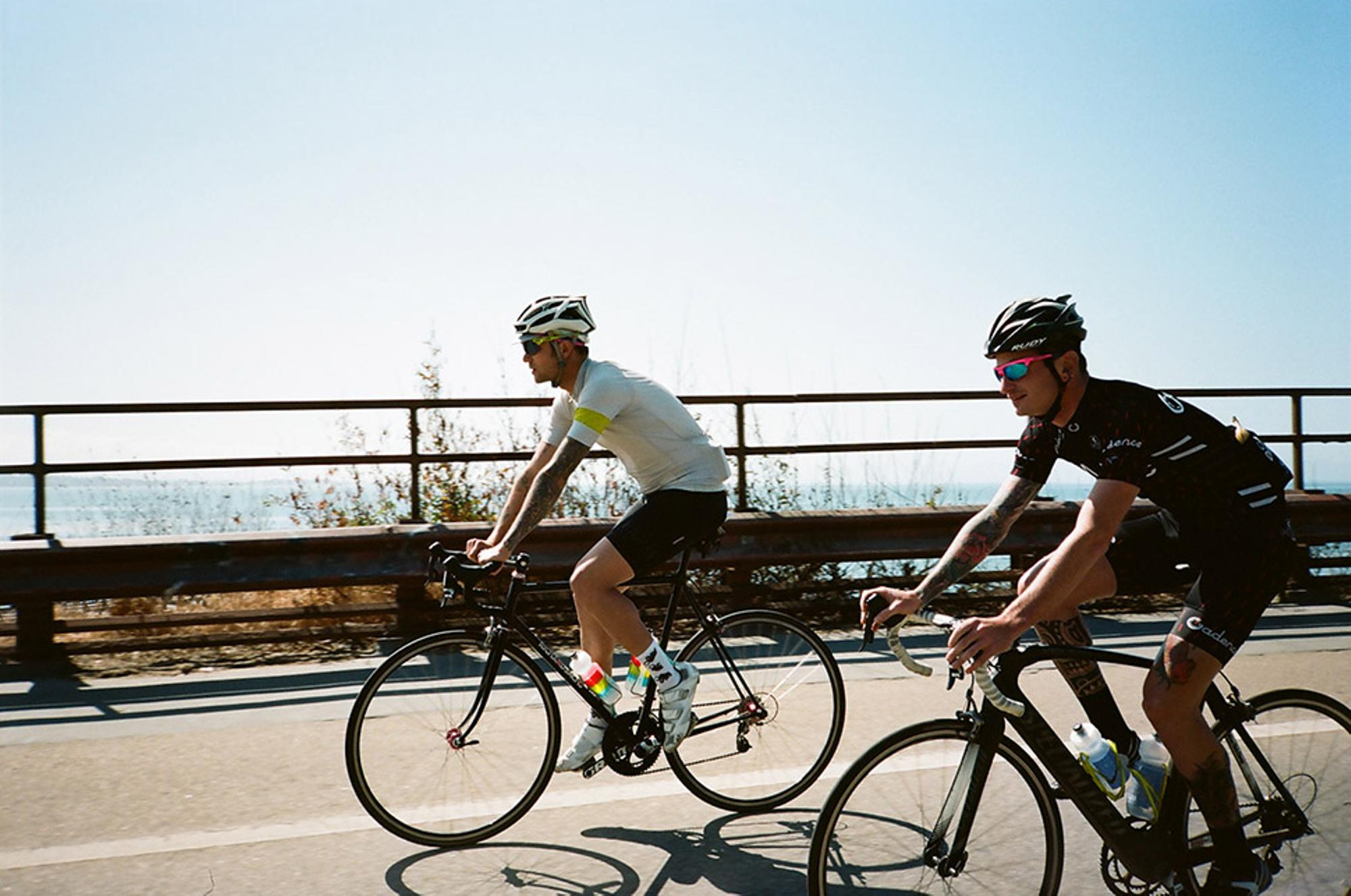 Jeremy and Marc, rolling out of Santa Cruz.