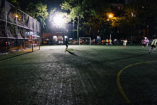 Night soccer